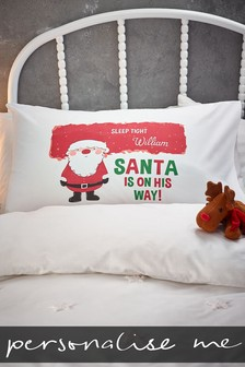 Personalised Santa Pillowcase
