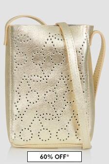 Bonpoint Girls White/Gold Bag