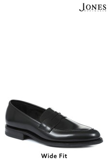Design Loake by Jones Bootmaker Seneca Goodyear Welted Men's Wide Fit Leather Penny Loafers