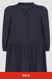 Bonpoint Girls Navy Dress