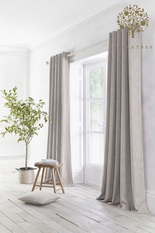 Appletree Grey Boucle Eyelet Curtains