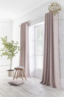 Appletree Blush Pink Boucle Eyelet Curtains