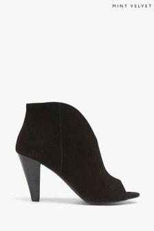 Mint Velvet Black Quinn Black Suede Ankle Boots