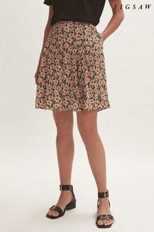 Jigsaw Camellia Pleated Mini Skirt