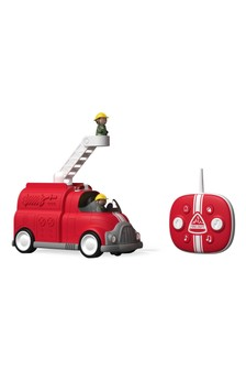 Sharper Image Red Toy Remote Control Fire Engine Lights And Sounds