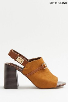 River Island Brown Light Snaffle Shoe Boots