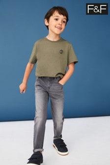 F&F Grey Wash Skinny Jeans