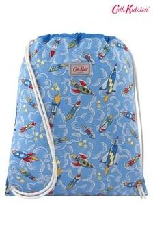Cath Kidston Kids Blue Rockets Drawstring Bag