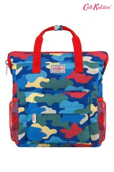 Cath Kidston Kids Blue Camouflage Large Tote Backpack