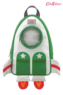 Cath Kidston Green Rockets Novelty Rocket Backpack