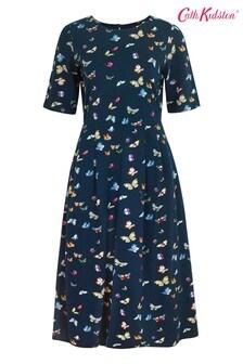 Cath Kidston Blue Printed Butterflies Jersey Dress