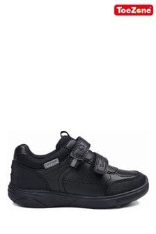 ToeZone Black Football Novelty School Shoes