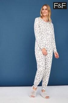 F&F Grey Snit Loungewear Pyjamas Pack