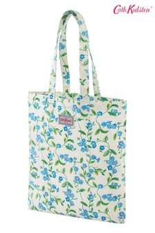 Cath Kidston Forget Me Not Cream Cotton Book Bag