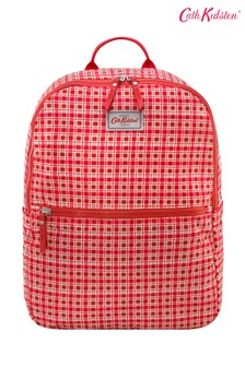 Cath Kidston  Painted Check Small Red Foldaway Backpack
