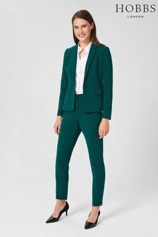 Hobbs Petite Green Adelia Trousers