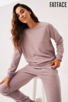 FatFace Purple Co-ord Crew Sweater