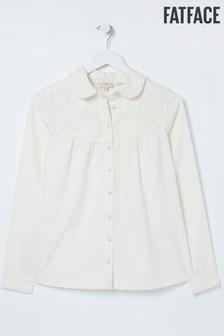 FatFace Natural Allyra Broderie Shirt
