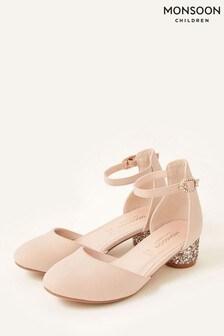 Monsoon Pink Glitter Heel Shoes