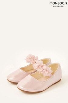 Monsoon Pink Corsage Shimmer Walker Shoes