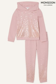 Monsoon Nude Foil Star Hoodie And Joggers Set