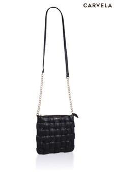 Carvela Black Lexi Weave Pouch Cross-Body Bag