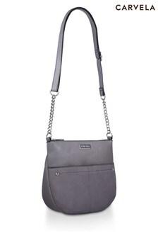Carvela Grey Imogen Zip Top  Cross-Body Bag
