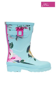 Joules Blue Tall Printed Wellies