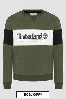 Timberland Boys Khaki Sweat Top