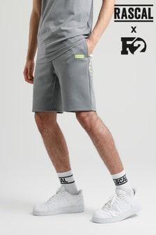 Rascal Mens Grey Elite Stripe Shorts