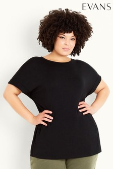 Evans Black Relaxed Top