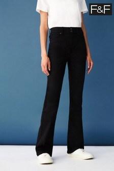 F&F Black Bootcut Jeans