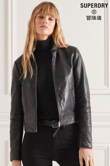 Superdry Studios Downtown Leather Jacket