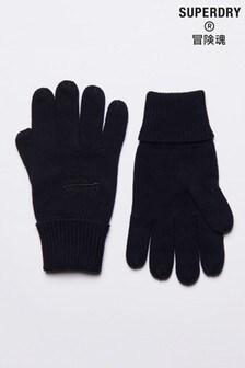 Superdry Black Vintage Logo Classic Gloves