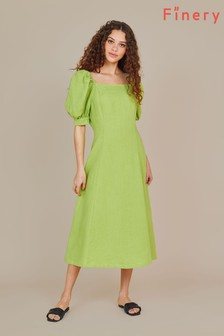 Finery Green Kaylani Midi Dress