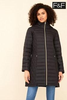 F&F Black Long Padded Coat