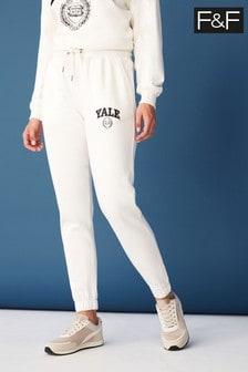 F&F Cream Yale Joggers