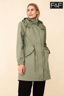F&F Green Raincoat