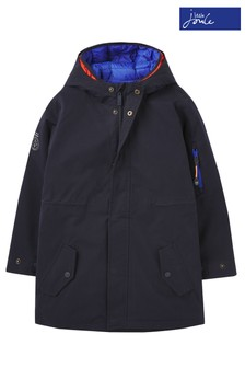 Joules Blue Hudson Waterproof Three-In-One Parka and Padded Jacket