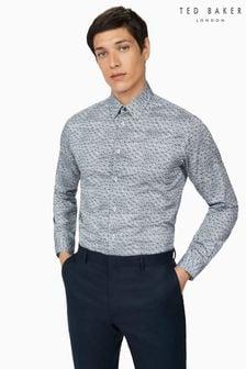 Ted Baker Granada Mono Floral Slim Shirt