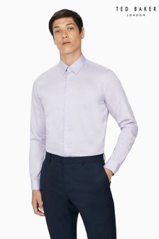 Ted Baker Naples Lilac Sateen Slim Shirt