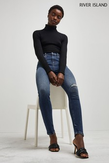 River Island Denim Medium High Rise Skinny Jeans