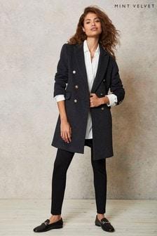 Mint Velvet Grey Double Breasted Coat
