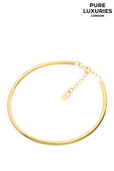 Pure Luxuries London Yellow Gold Plated Sosa Sterling Silver Bracelet