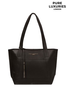Pure Luxuries London Portslade Black Leather Tote Bag