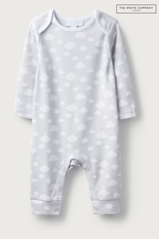 The White Company Grey Cloud Sleepsuit