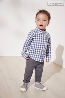 The White Company Checked Shirt And Trousers Set