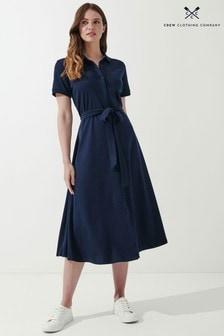 Crew Clothing Company Blue Ryde Jersey Dress
