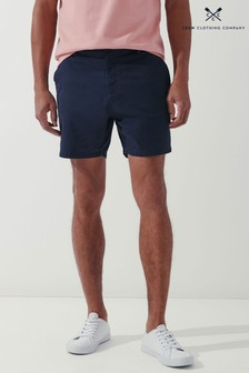 Crew Clothing Company Blue Shorter Length Bermuda Shorts