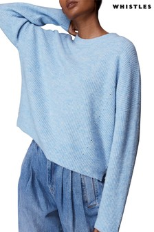 Whistles Ribbed Crew Neck Jumper